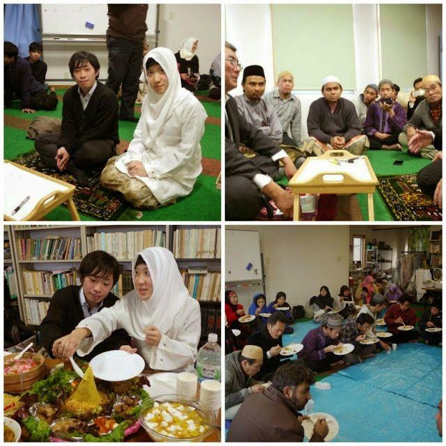Perkahwinan Muslim Jepun Lebih Islam Dari Masyarakat Kita!   Sekali lagi Melayu malu pada Jepun. Sebuah perkahwinan pada 2 Januari 2015 di antara seorang lelaki Jepun yang baru menjadi Muslim dan seorang wanita Jepun Muslim di Masjid Niihama-Jepun. Perkahwinan Islam mestilah senang selesa dan memudahcara seperti perkahwinan ini. Berdoalah untuk pasangan baru ini semoga Allah memberkati mereka.  BarakAllahu lakuma wabaraka alaikuma wajamaa baina kuma bilkhair…