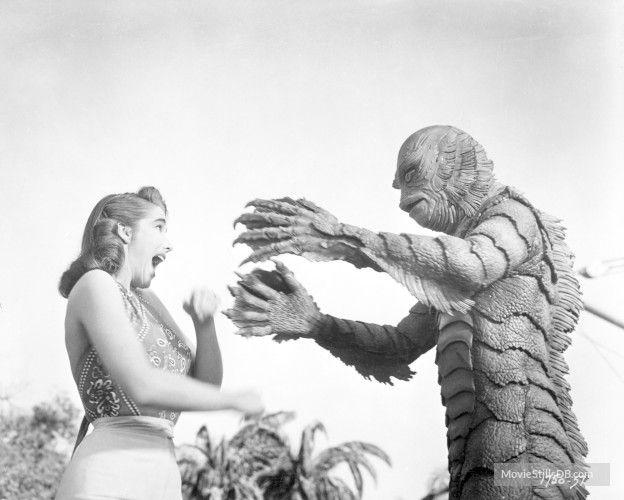 Creature from the Black Lagoon - Publicity still of Ben Chapman & Julie Adams