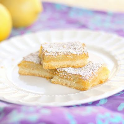 Lemon Bars  Source: Brittany from Seriously So Cute  (the girl who ate everything)