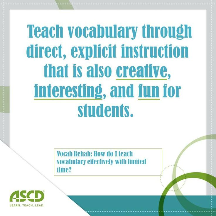 Learn strategies to effectively teach vocabulary in any classroom.
