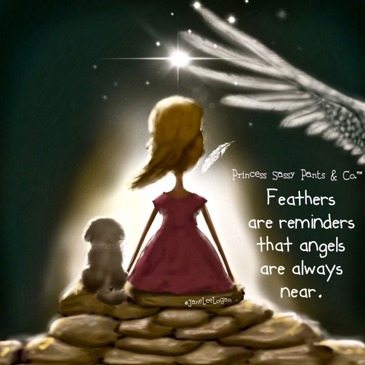 2) Feathers are reminders that angels are always near.