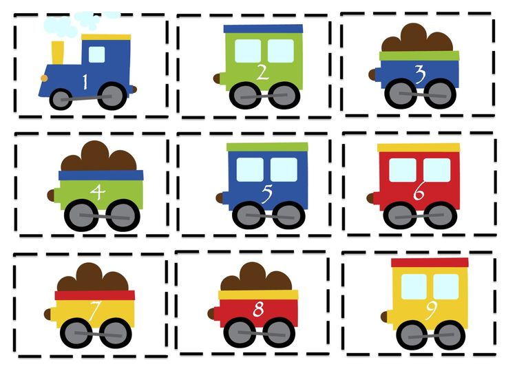 Preschool Printables: Trains, Planes and Automobiles Printable. Cute pics! Can use for counting, sequencing, following directions and more. Repinned by www.preschoolspeechie.com