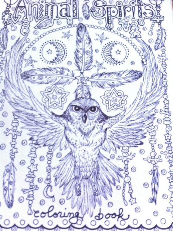 Animal Spirits Coloring Book For You To Color And Be The Artist