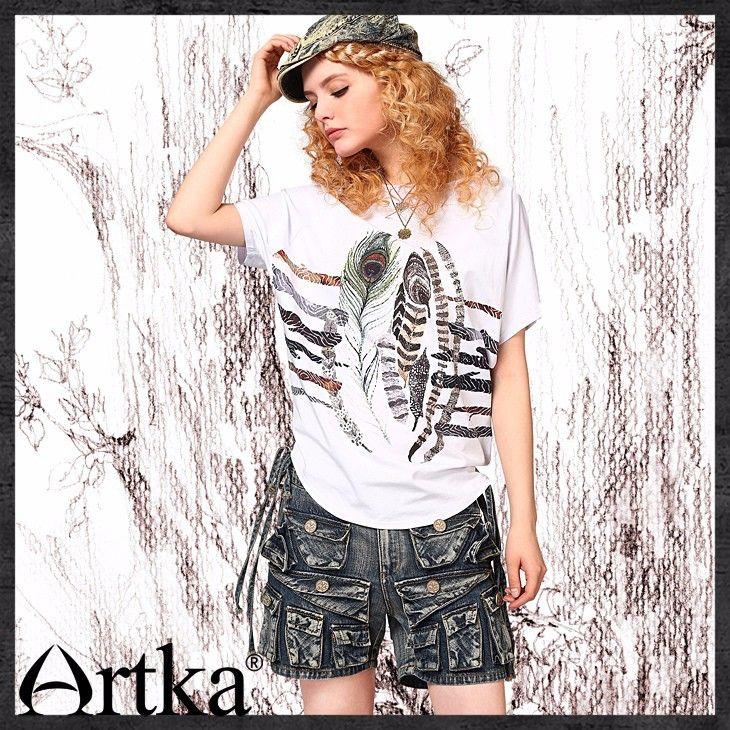 Artka лета женщин свободного покроя индивидуальный низкая Drawcord талии побелены эффект карманы широкий глубокие синие джинсовые шорты N09518купить в магазине ArtkaнаAliExpress