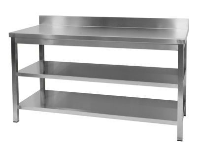 Stainless Steel Kitchen on Stainless Steel Worktop For Commercial Kitchen   Wall Table   Mafirol