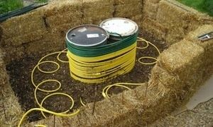 Would like to hook up the hot water somehow for flower bed warmers  Generate hot water from your compost heap...