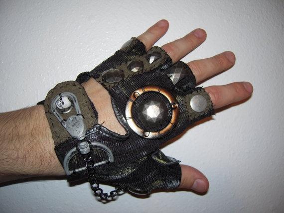 Steampunk gloves men