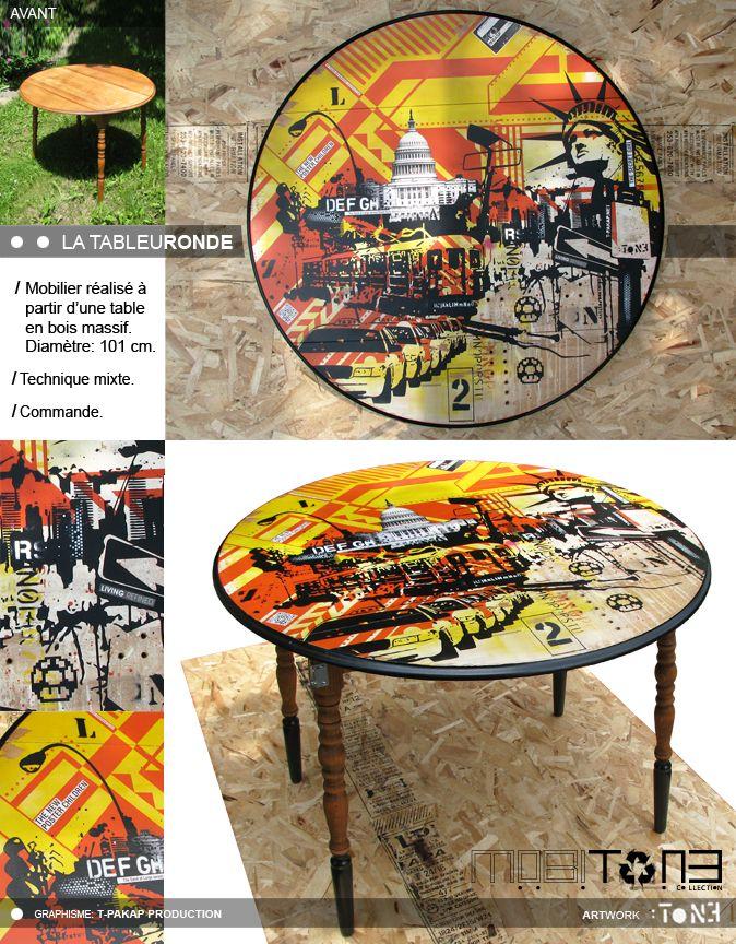La TableuRonde. Création de l'artiste-peintre Tone. Collection MobiTone. www.t-pakap.net