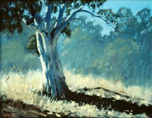 Quiet Achiever - Oil on canvas board - Artist John Beattie (c)
