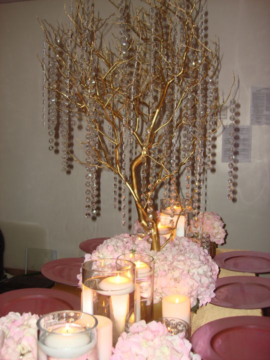 Manzanita Branch Centerpiece Rentals : Best ideas about bling wedding centerpieces on