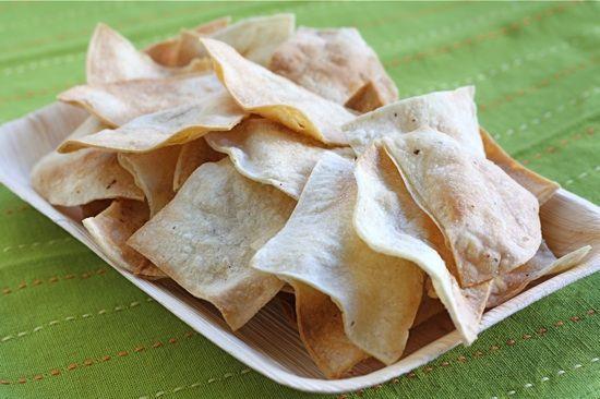 Homemade Baked Tortilla Chips Recipe  http://www.twopeasandtheirpod.com/homemade-baked-tortilla-chips-recipe/