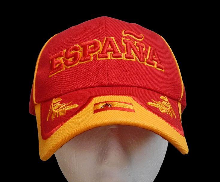 Espana Spain Spanish Flag Sports Soccer Baseball Cap Hat Hats