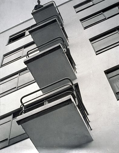 Figure 3 - Bauhaus balconies. Photo by Moholy-Nagy