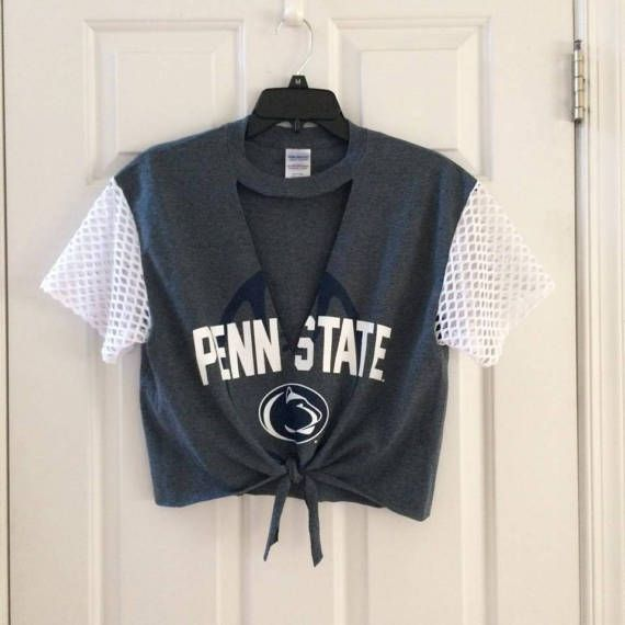 Penn State Mesh Sleeves T-shirt by ChicCreationsByLulu on Etsy