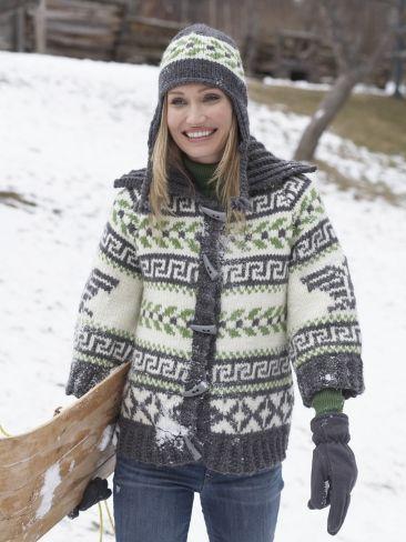 Navajo Cardigan and Hat   Yarn   Free Knitting Patterns   Crochet Patterns   Yarnspirations
