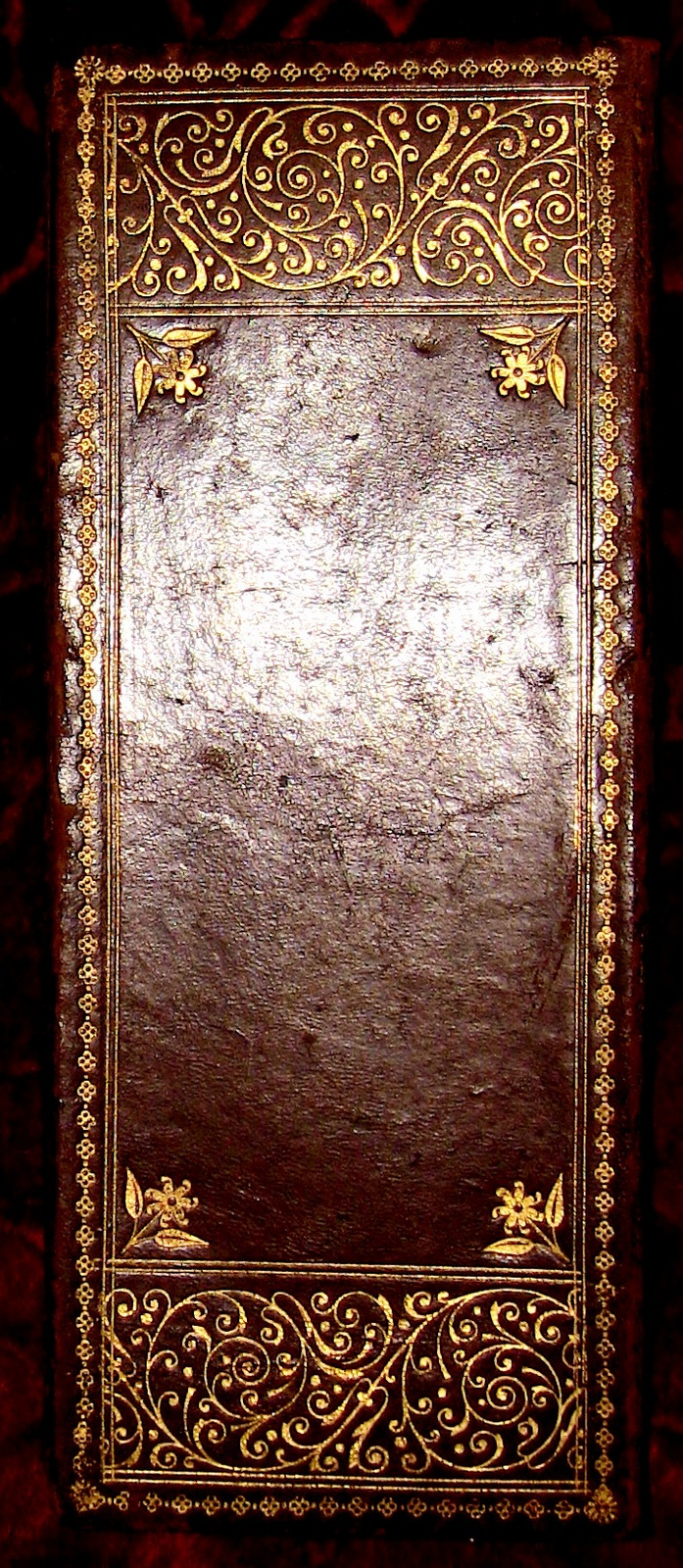 Italian Gold-Tooled Leather Bridge Folio