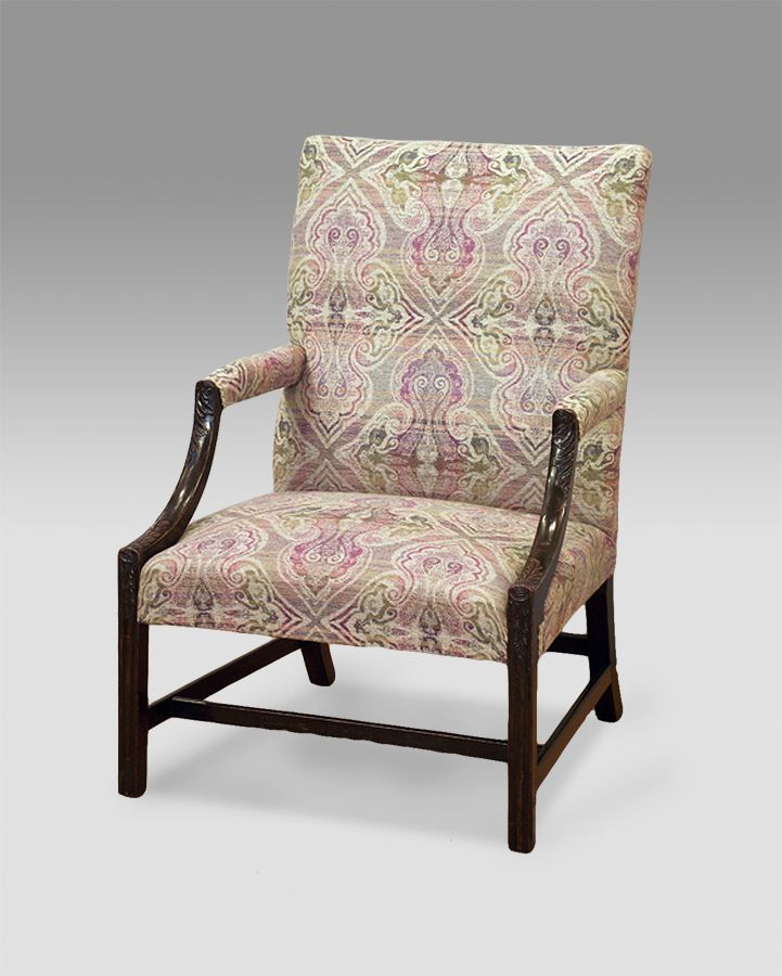 Antique mahogany Gainsborough armchair - 212 Best Antique Chairs / Sofas / Stools Images On Pinterest