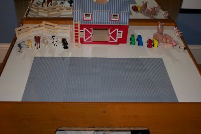 DIY Activity Table   Activities For Children   Do It Yourself  Instruction for how to turn a train table into a light peg table, chalkboard table, lego table, geoboard, and dry erase table
