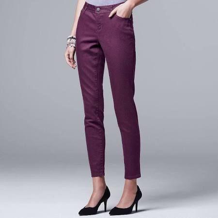 Imani Soho Club pant  purple slim pants women - Google Search