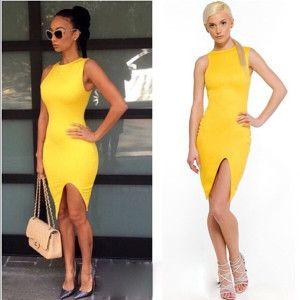 Vestidos de moda 2017 » Vestidos amarillos 2016 2