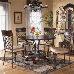 Ashley Furniture Alyssa 5-Piece Table & Chair Set - Item Number: D345-15+4x01