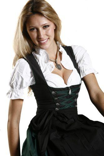 Dirndl Womens 3-Piece Dirndl with Skirt (bestseller)