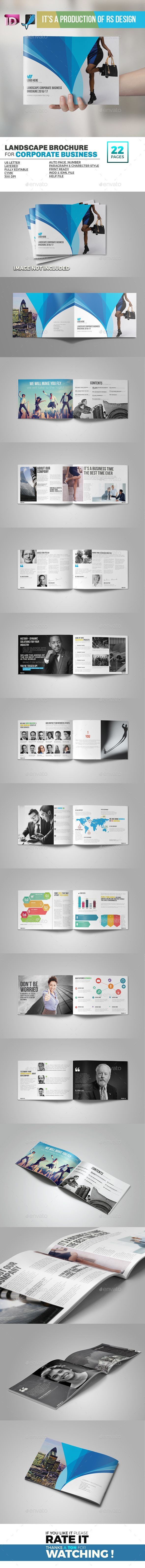 Landscape Corporate Brochure Template InDesign INDD. Download here: http://graphicriver.net/item/landscape-corporate-brochure-/16689254?ref=ksioks