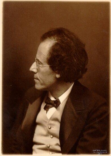 Austrian composer Gustav Mahler (1860-1911).