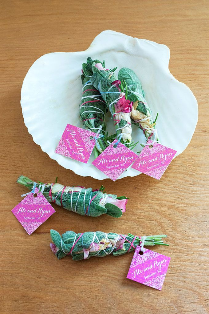 DIY Smudge Stick Wedding Favors | The Evermine Blog | www.evermine.com
