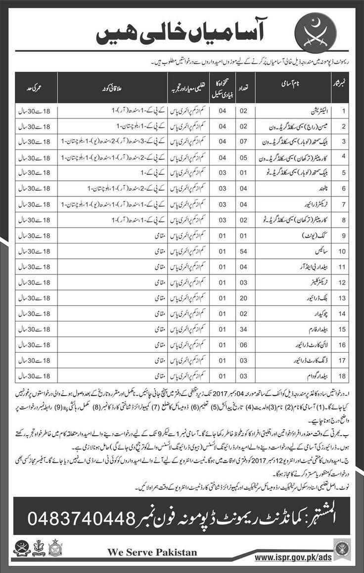 Pakistan Army Remount Depot Mona Jobs 2017 For Electrician And Driver http://www.jobsfanda.com/pakistan-army-remount-depot-mona-jobs-2017-electrician-driver/