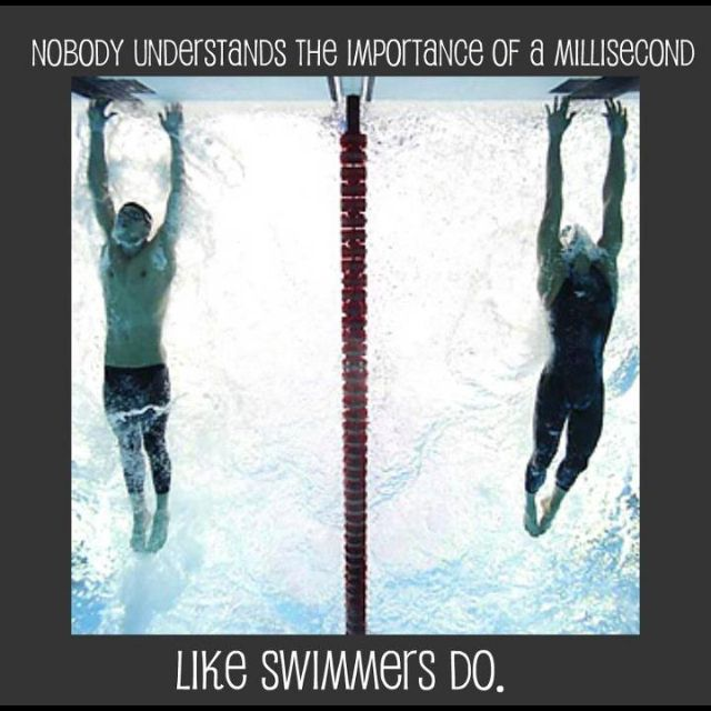 It's a swimmer thing.