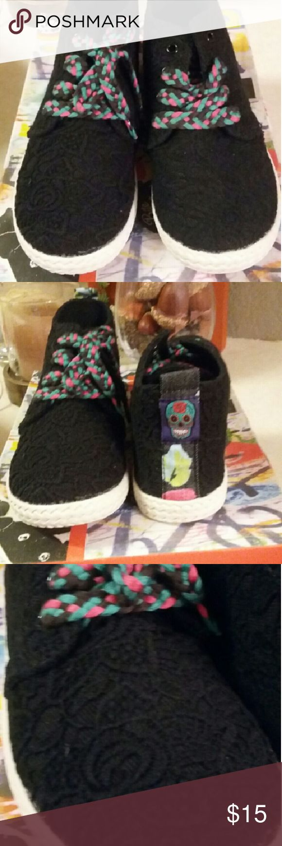 Tilly's girl shoes Tilly's blk girl shoes size 6, style name Sugar Momma, never worn Tilly's Shoes Athletic Shoes
