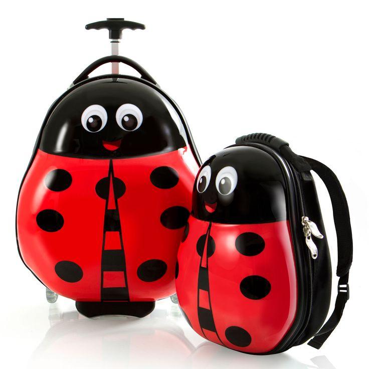 Heys Kids Travel Tots Kindertrolley 46 cm 2 Rollen mit Rucksack Lady Bug #kinderkoffer #kinder #marienkäfer