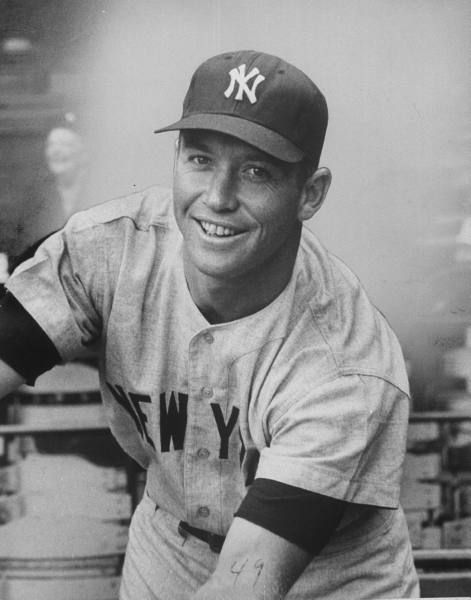 New York Yankee Mickey Mantle, 1958.