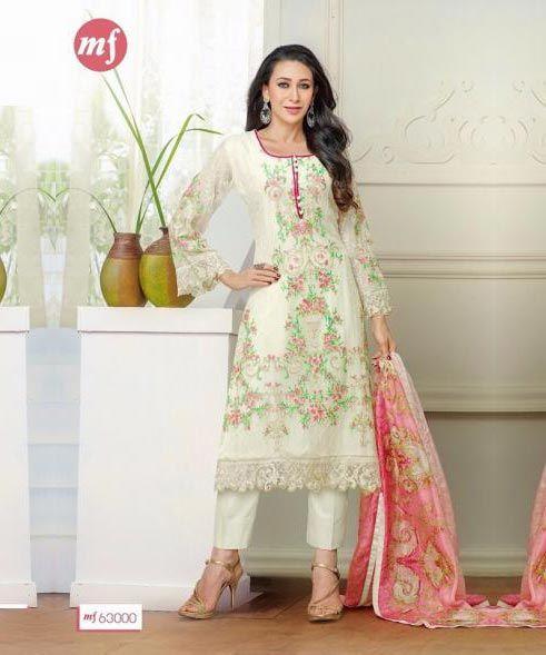 Lady Fashion Villa white designer salwar suit- salwar suit, Buy salwar suit Online, Designer Salwar suit, white karishma style, Buy white karishma style,  online Sabse Sasta in India - Salwar Suit for Women - 8703/201604