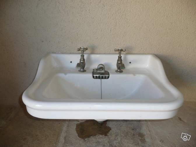 pinterest 39 te 25 39 den fazla en iyi lavabo ancien fikri relooking sdb lavabo vintage ve machine. Black Bedroom Furniture Sets. Home Design Ideas