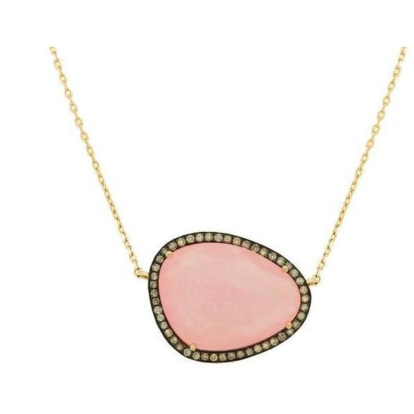 Christina Debs Hard Candy Pink Jade And Diamond Necklace ($2,457) ❤ liked on Polyvore featuring jewelry, necklaces, accessories, 18 karat gold necklace, pink diamond necklace, pink jade necklace, diamond jewellery and diamond necklace