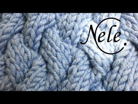 Mütze stricken für Anfänger, Strickmütze mit Wabenmuster, DIY - Anleitung by Nele C. - YouTube