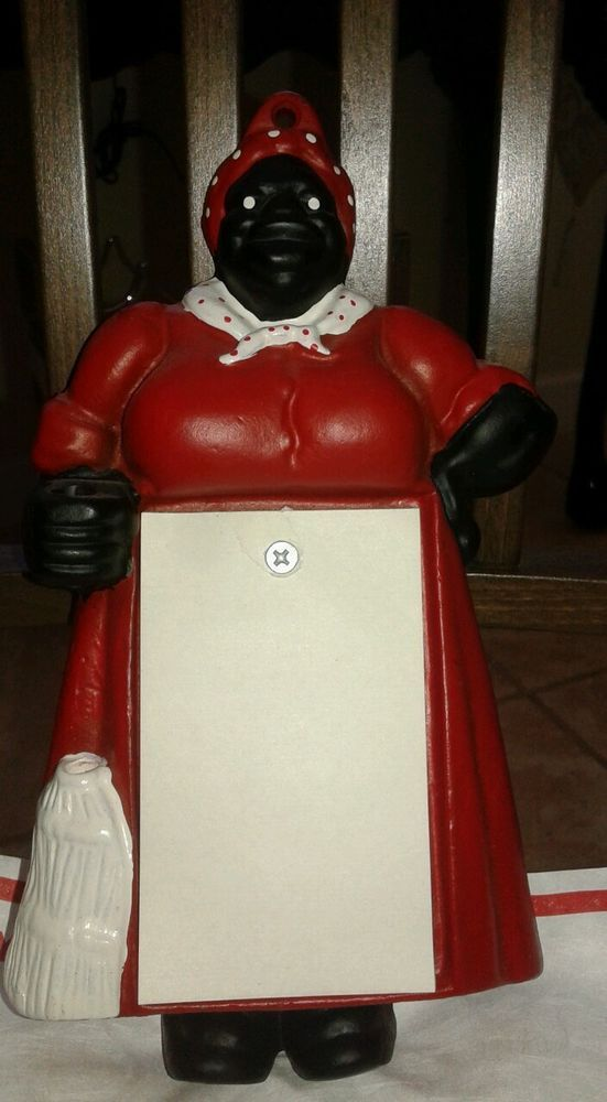 Cast Iron Aunt Jemima Notepad and pencil Holder in ...