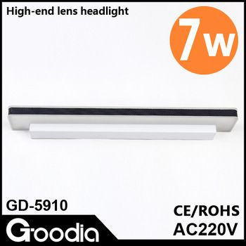 Fashion,7w 5050 smd  mirror lights, with high quality crystal stainless steel,Cool white,CE&ROHS,AC90-220V,kitchen free shpping