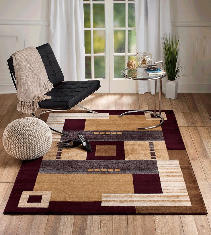 Summit Gulistan 2813 Marron Geometric Transitional Area Rug Modern Abstract Rug (2x3 scatter door mat size) *** This is an Amazon Affiliate link. Read more at the image link.