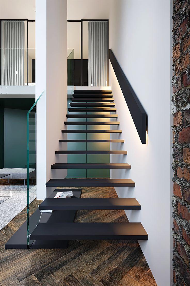 Best Artist S Flat Stairs Design Glass Stairs Design 400 x 300