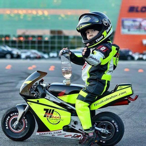 Cute little rider!