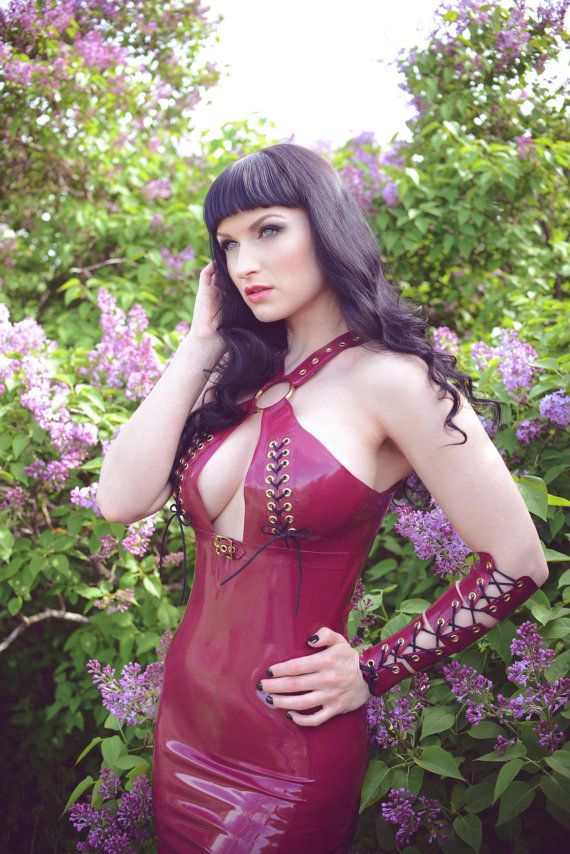 Latex Rubber 'Kyra' dress in Plum by kaorislatexdreams. Explore more products on http://kaorislatexdreams.etsy.com