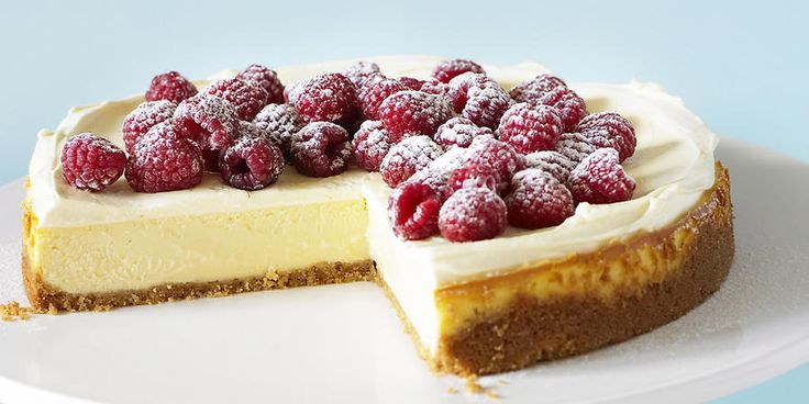 Recipe for Baked cheesecake with raspberries