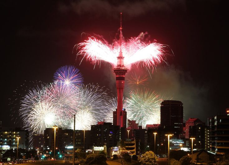 Sky Tower, Auckland New Year Eve Fireworks