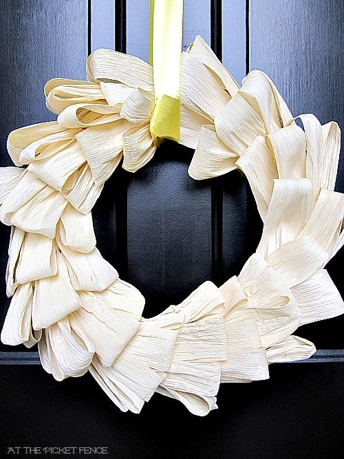 corn husk wreath tutorial plus 100 fall ideas!!