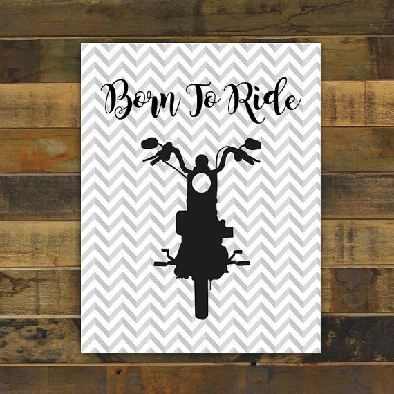 Toddler Baby Boy Born To Ride Motorcycle by KariDonellDesigns