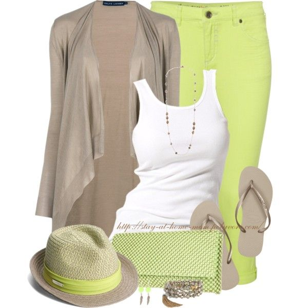"""Fedora, Clutch & Flip Flops"" by stay-at-home-mom on Polyvore"