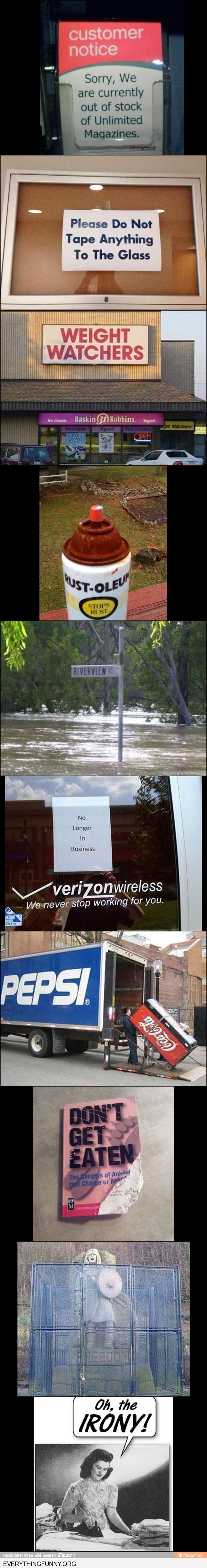 Love irony! Visit http://everythingfunny.org for thousands of funny captions and pictures.